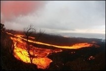 Eruption du Piton de la Fournaise à la Réunion