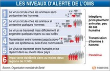 La France maintient son niveau d'alerte à 5 face à la grippe