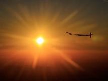 Vol historique de l'avion solaire Solar Impulse