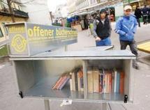 Des livres à disposition dans la rue enchantent les lecteurs viennois