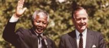 Bush père pleure la mort de Mandela... une gaffe de son porte-parole