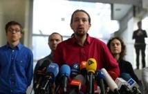 Le leader du parti antilibéral espagnol Podemos Pablo Iglesias