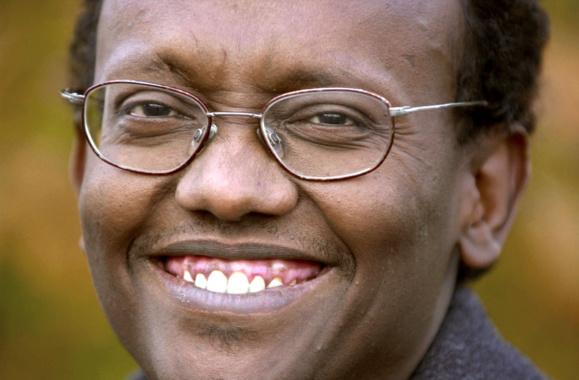 L'écrivain Abdourahman A. Waberi, le 9 novembre 2003 à Cheux (Calvados)