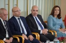 Les lauréats tunisiens du prix Nobel de la Paix Houcine Abbassi,Mohamed Fadhel Mahfoud, Abdessatar Ben Moussa et Wided Bouchamaoui