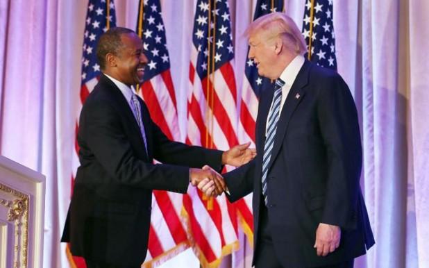 Etats-Unis: l'ex-chirurgien noir Ben Carson nommé ministre du Logement