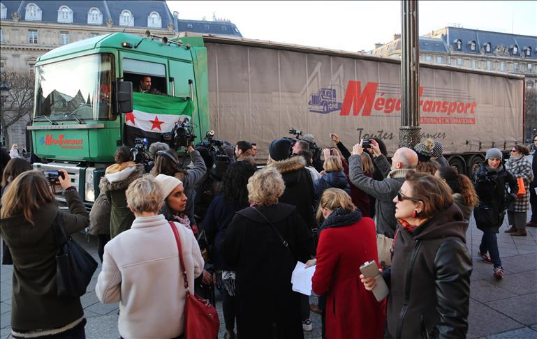 Alep: La ville de Paris envoie un convoi humanitaire
