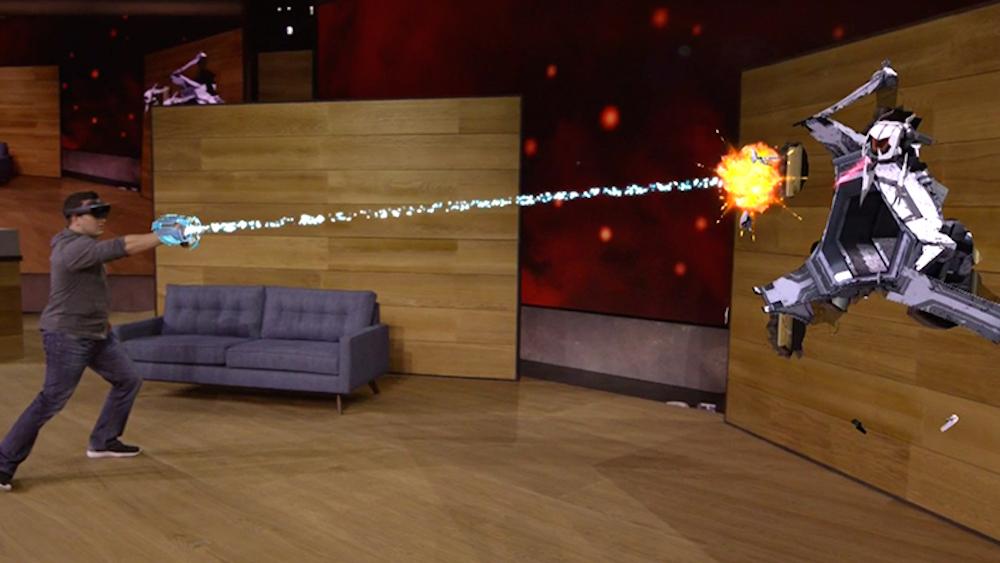 Microsoft HoloLens. Pour les développeurs. L'année prochaine. 3 000$
