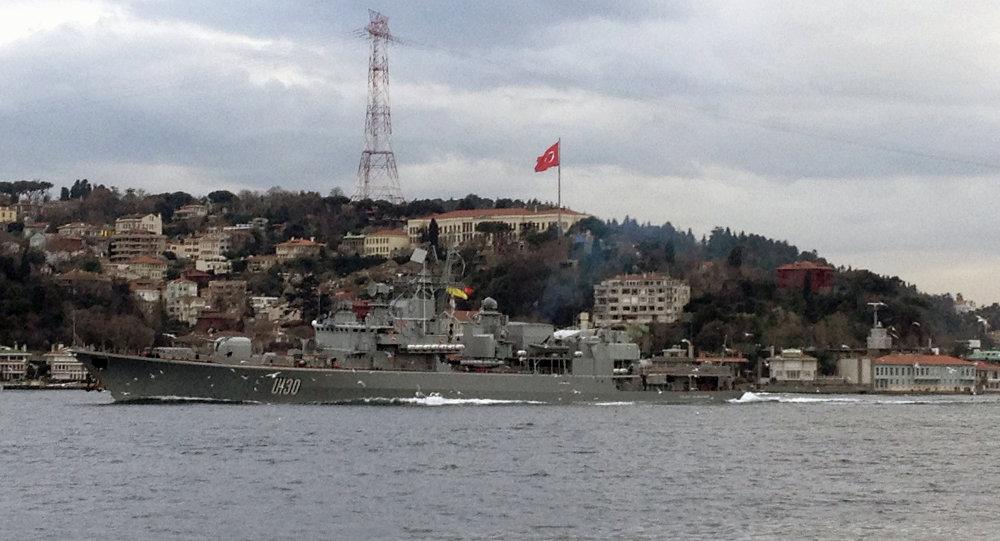 Le navire-amiral de la Flotte ukrainienne en quête de couvertures en Turquie