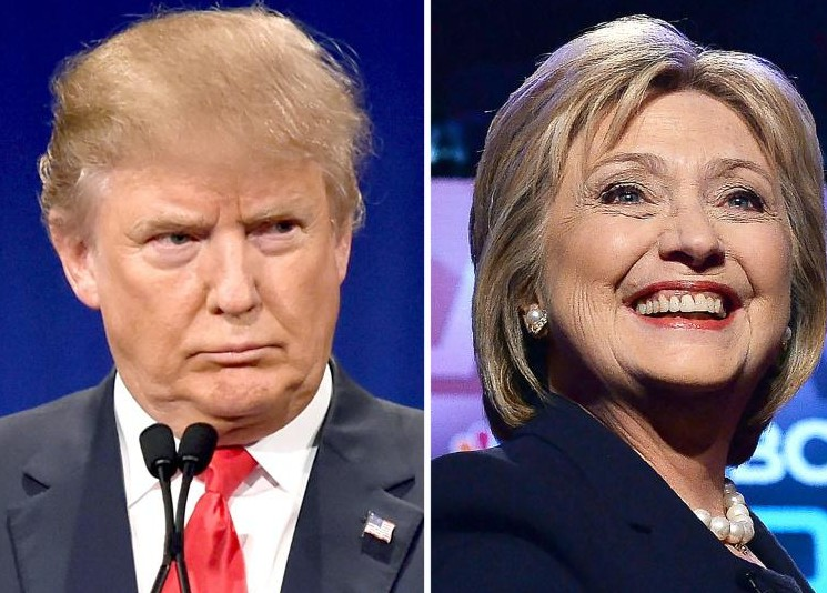 """""""Super mardi"""" aux Etats-Unis: Clinton et Trump près du but"""