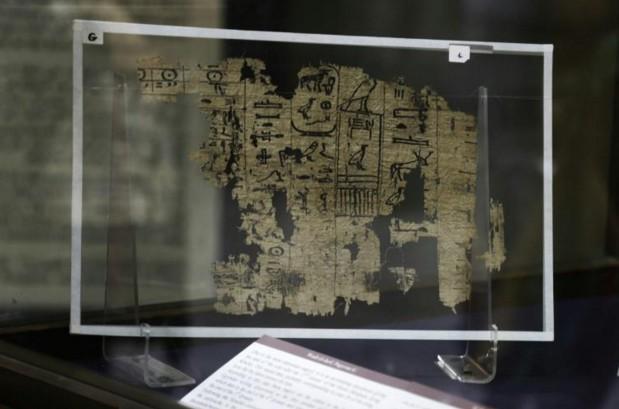 Le plus vieux texte écrit sur du papyrus exposé en Egypte