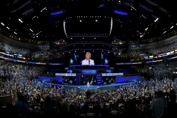 Hillary Clinton s'érige en garante des valeurs américaines face à Trump