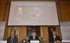 Le prix Nobel d'économie 2016 décerné à un Britannique et à un Finlandais