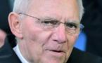 Le ministre des finances allemand Wolfgang Schauble