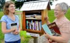Au bout des jardins de Washington, des petits abris à... livres