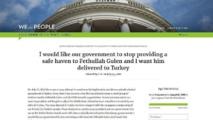 Pétition réclamant l'extradition de Gülen: Plus de 100 mille signataires