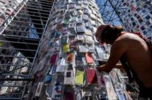 """Le """"Parthénon des livres"""", une oeuvre monumentale contre la censure"""