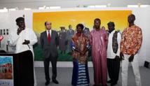 """Vernissage à Rabat de l'exposition """"Ubunt-L'Afrique en Marche"""" d'art plastique"""