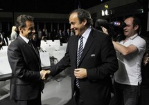 Nicolas Sarkozy et Michel Platini
