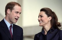 Le Prince William et sa fiancée Kate Middleton