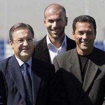 Florentino Perez et Zinédine Zidane