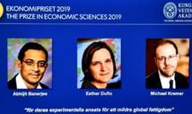 Le Nobel d'économie attribué à un trio franco-indo-américain