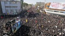 Iran : 35 morts dans une bousculade lors du cortège funèbre de Soleimani
