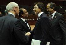 Francois Hollande et Antonis Samaras, Herman Van Rompuy et Elio Di Rupo