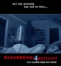 Le film d'horreur Paranormal Activity 4 en tête du box-office