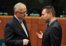Olli Rehn et Ioannis Stournaras