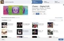 Facebook ajoute la boutique iTunes d'Apple à son service de cadeaux