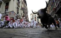 Espagne: quatre blessés pour le deuxième lâcher de taureaux de la San Fermin