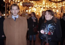 Andrea Casiraghi et sa mère, la princesse Caroline