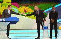 Zinédine Zidane lors du tirage au sort du Mondial-2014 à Costa
