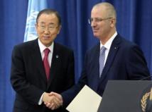 Ban Ki-moon et Rami Hamdallah