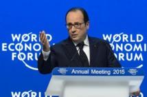 Davos: appel de Hollande à lutter contre le terrorisme et agir pour le climat