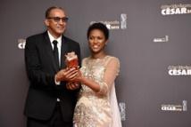 """La scénariste de """"Timbuktu"""" Kessen Tall et le réalisateur mauritanien du film Abderrhamane Sissako"""