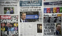 Réactions en France à la victoire des conservateurs en Grande-Bretagne