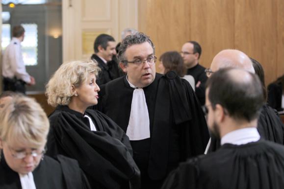 L'avocat de BTP Bouygues TP, Philippe Gooseens, à l'ouverture du procès le 10 mars 2015 à Cherbourg