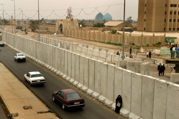 La zone verte de Bagdad, symbole de l'occupation américaine entre 2003 et 2009