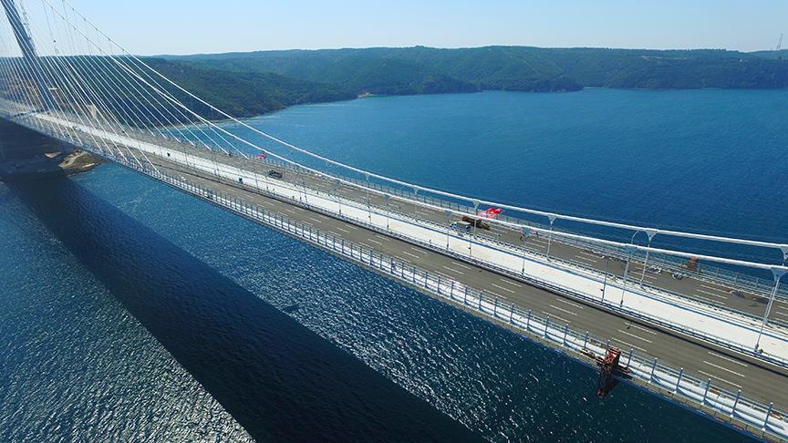 Turquie : Inauguration du plus large pont suspendu au monde, vendredi, à Istanbul