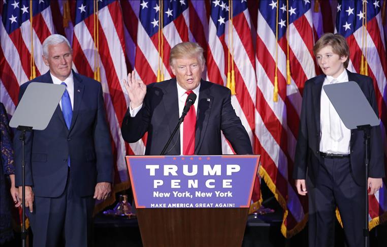 Donald Trump, nouveau président des Etats-Unis d'Amérique