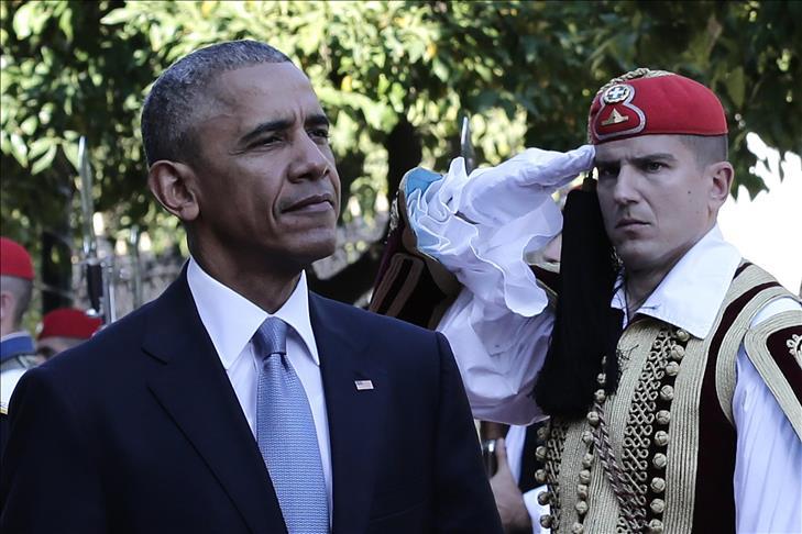 Obama en visite en Grèce