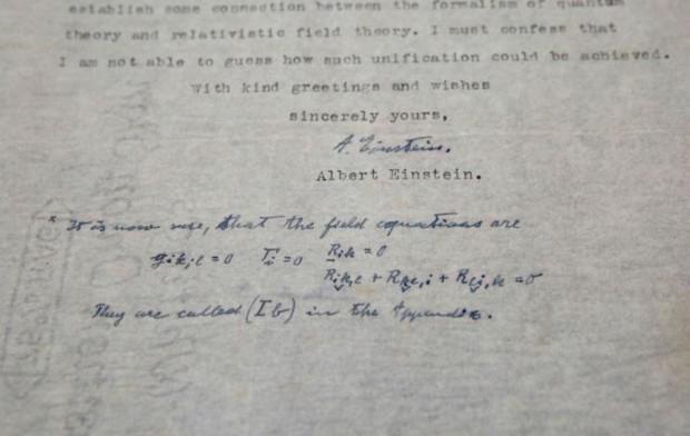 Des lettres d'Albert Einstein vendues aux enchères pour 210.000 dollars