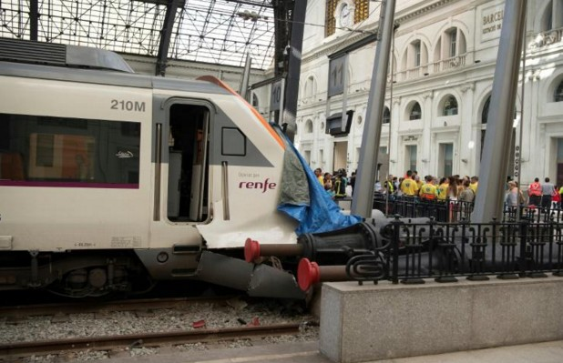 Accident de train à Barcelone: 54 blessés dont un grave