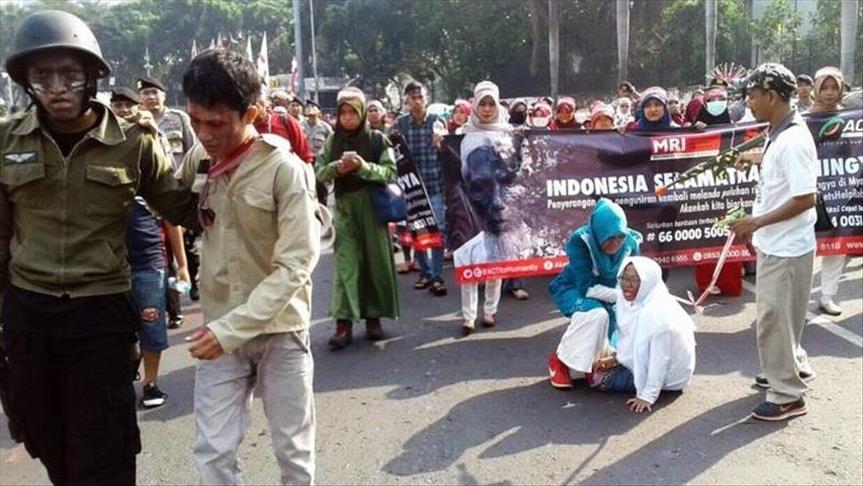 Indonésie : Manifestation en solidarité avec les musulmans Rohingyas à Jakarta