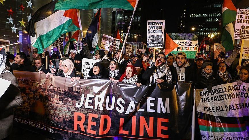Manifestation à Chicago contre la décision de Trump sur Jérusalem