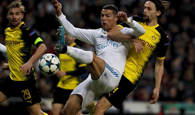 Foot/LDC-Gr.H-6e J : Le Real Madrid s'impose (3-2) face au Borussia Dortmund