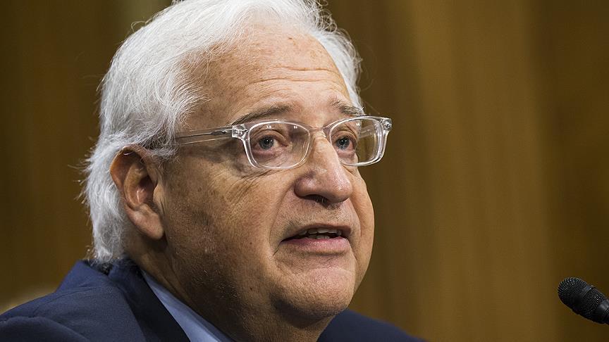 """L'ambassadeur américain en Israël opposé à la mention Cisjordanie """"occupée"""""""
