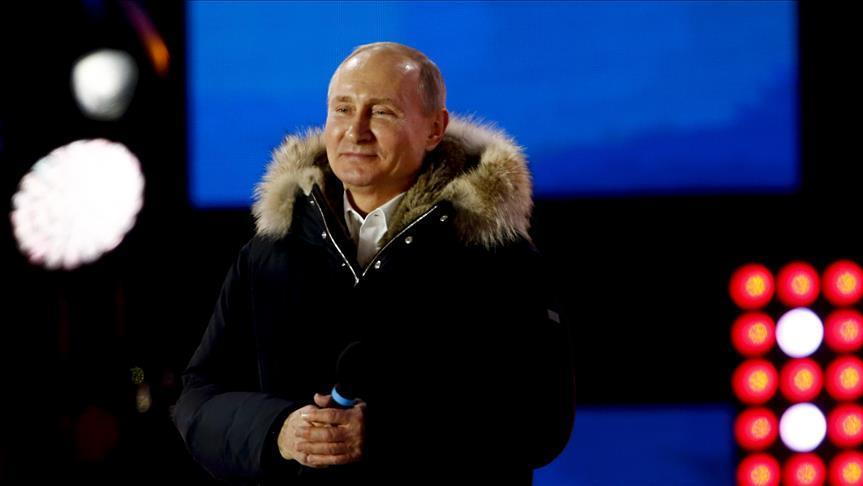 Poutine remporte le plus grand nombre de votes au cours de sa carrière présidentielle