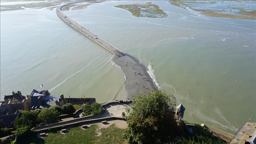 France/Mont Saint-Michel: Les plus grandes marées d'Europe continentale